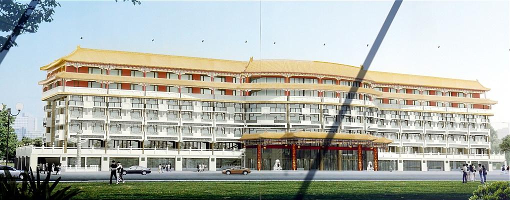 hotelneubau the diaoyutai mansion an der ex rennbahn. Black Bedroom Furniture Sets. Home Design Ideas