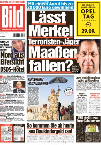 Bild Zeitung 18 September 2018