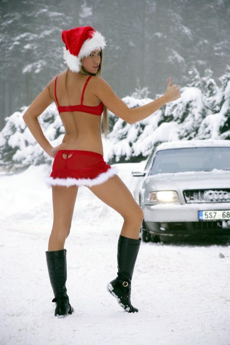 Dziewczyny w zimowej scenerii 1