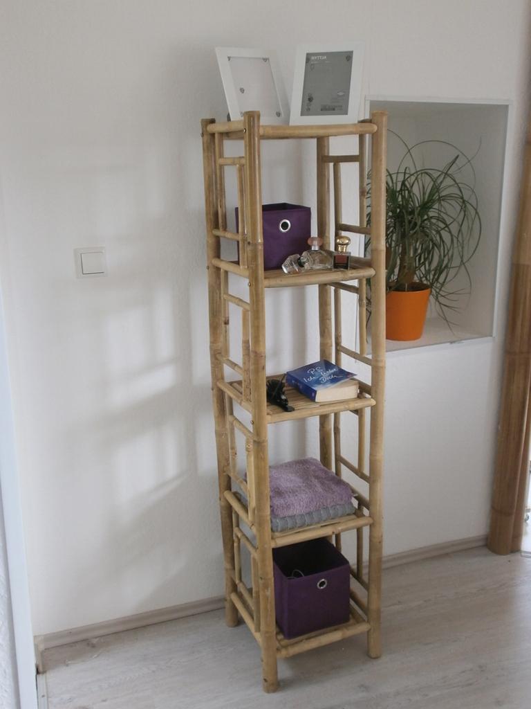 bambusregal schuhregal pflanzregal bambusm bel k chenregal regal wandregal ebay. Black Bedroom Furniture Sets. Home Design Ideas