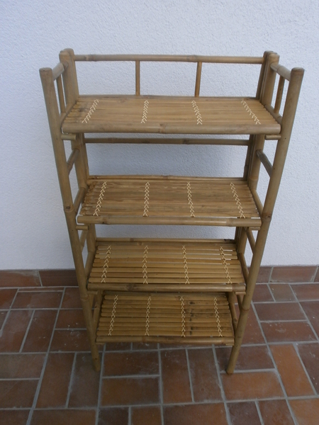 bambusregal b cherregal pflanzregal schuhregal bambus ebay. Black Bedroom Furniture Sets. Home Design Ideas