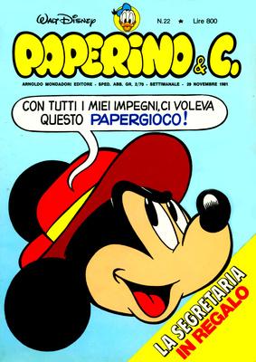 Walt Disney - Paperino & C. N. 22 (1981)