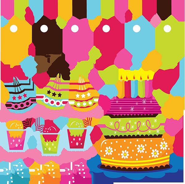 Открытка с днем рождения вектор