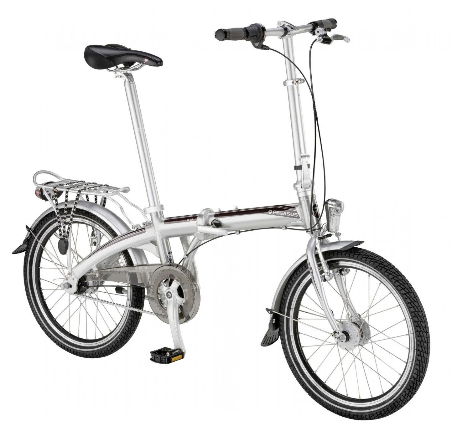 faltrad pegasus d7a silber 20 zoll falt klapp fahrrad 20. Black Bedroom Furniture Sets. Home Design Ideas