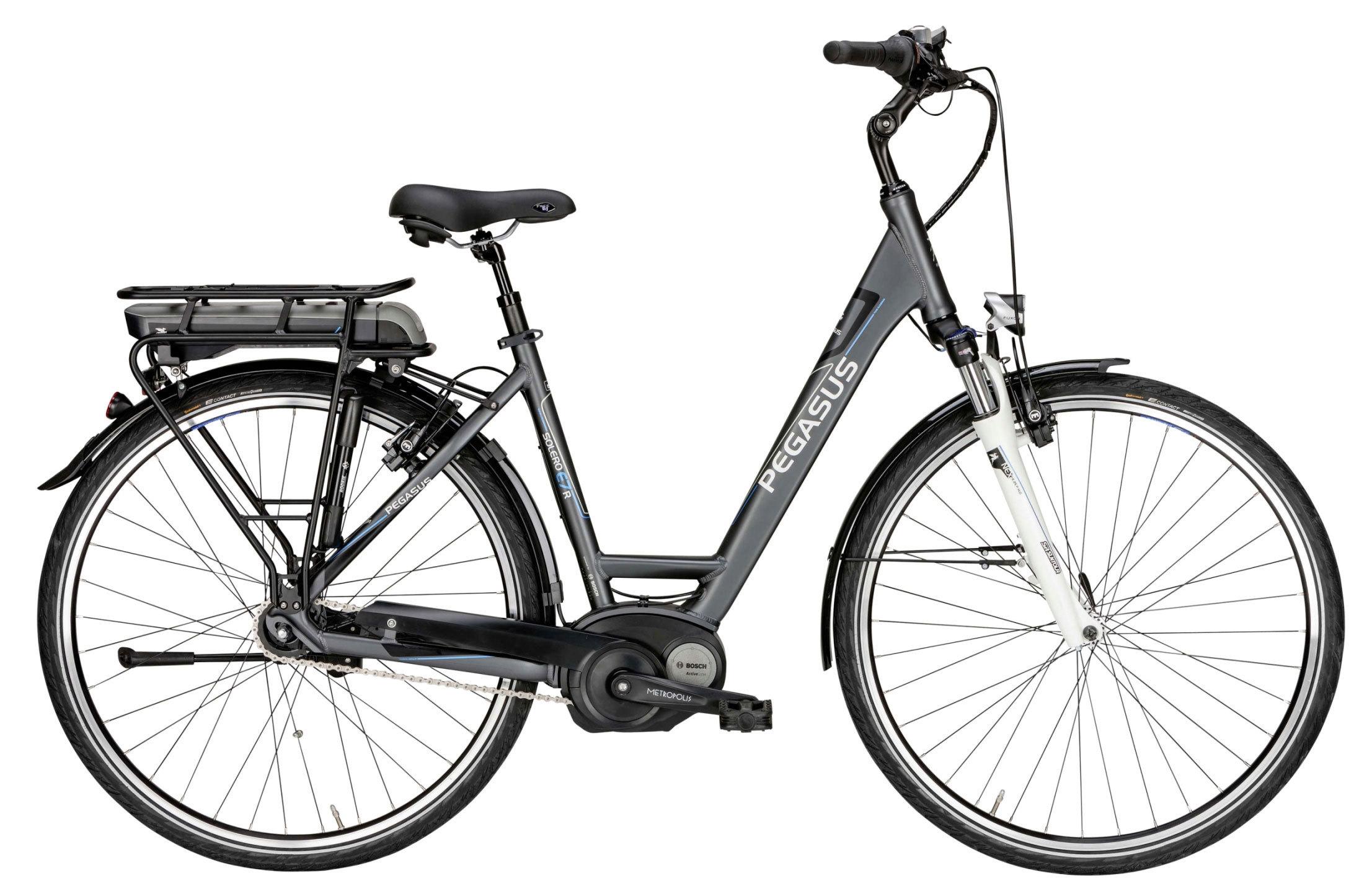 elektro fahrrad pegasus solero e7 r shimano 7g e bike grau. Black Bedroom Furniture Sets. Home Design Ideas