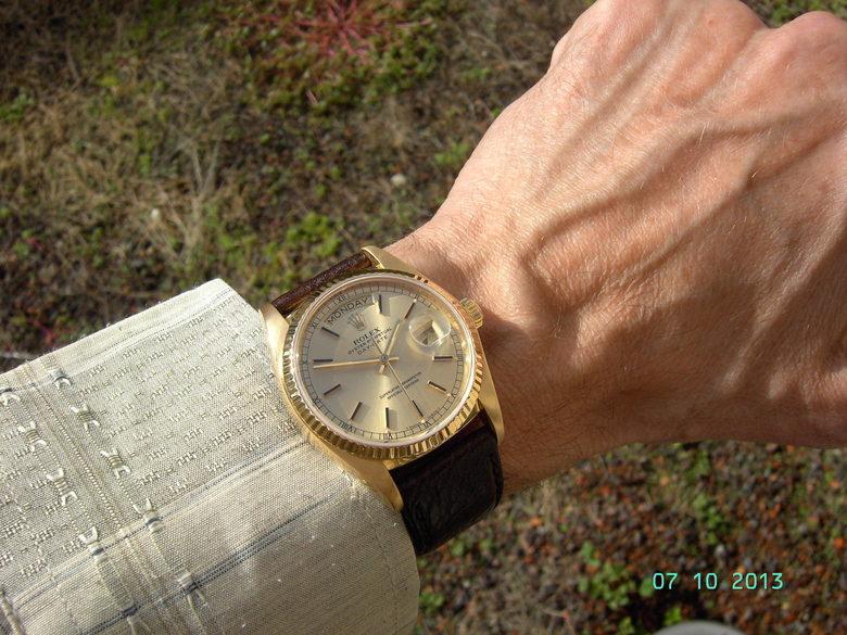 Rolex Day Date Gold Leder