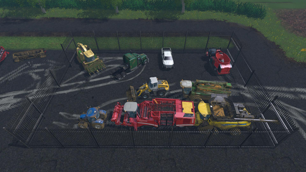 Placeable Parking Lot with Functions
