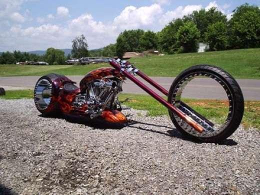 Chopper z kołami bez szprych 3