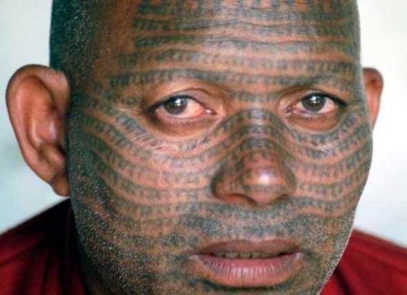Tatuaże na twarzach 6