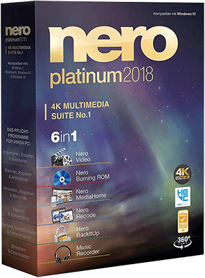 Nero Platinum 2018 Suite v19.0.07300 + Content