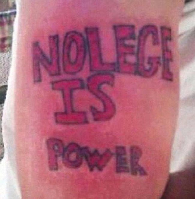 Nieudane tatuaże 13