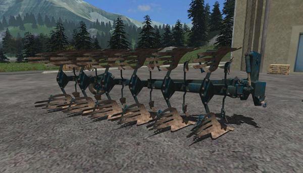 Rabe Werk 6 furrow plow v1.0