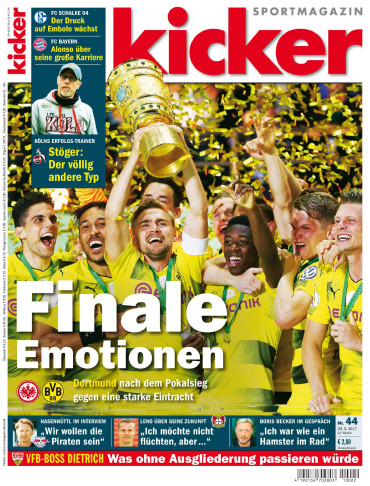 Kicker  Sportmagazin No 44 vom 29 Mai 2017