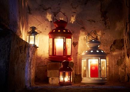 ikea deko laterne windlicht rotera f r teelichter wei 21cm stahl glas neu ebay. Black Bedroom Furniture Sets. Home Design Ideas