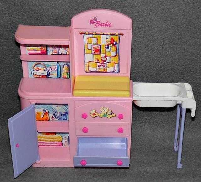 Barbie babyzimmer happy family baby zimmer kinderzimmer mattel sammlung m bel 2 ebay - Barbie kinderzimmer ...