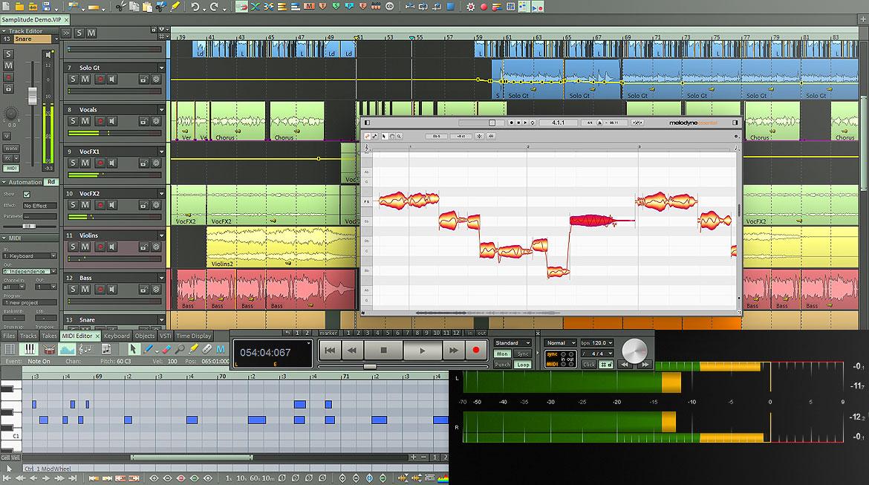 Screenshots of samplitude music studio 2016