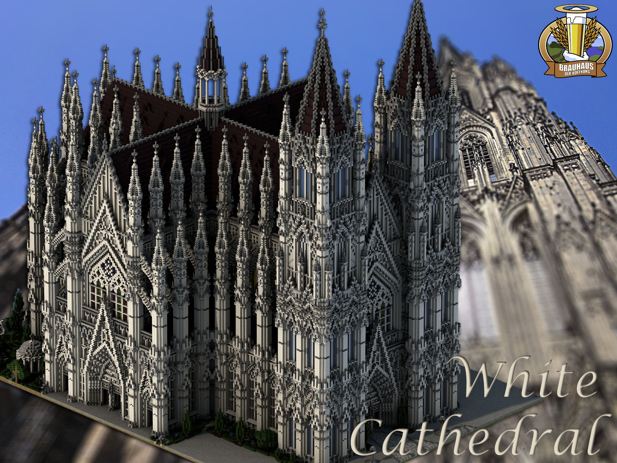 BdH Timeline RPMap Beautiful White Cathedral DOWNLOAD Minecraft - Wie downloade ich maps fur minecraft
