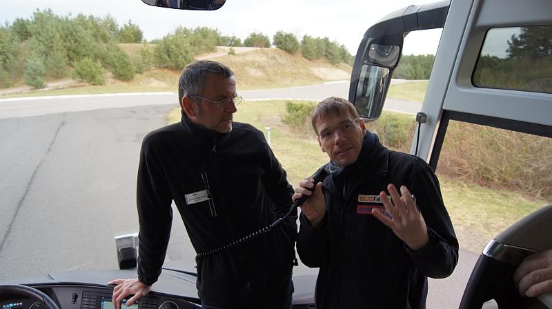 Goerdt und Sascha Einweisung Fahrstrecke