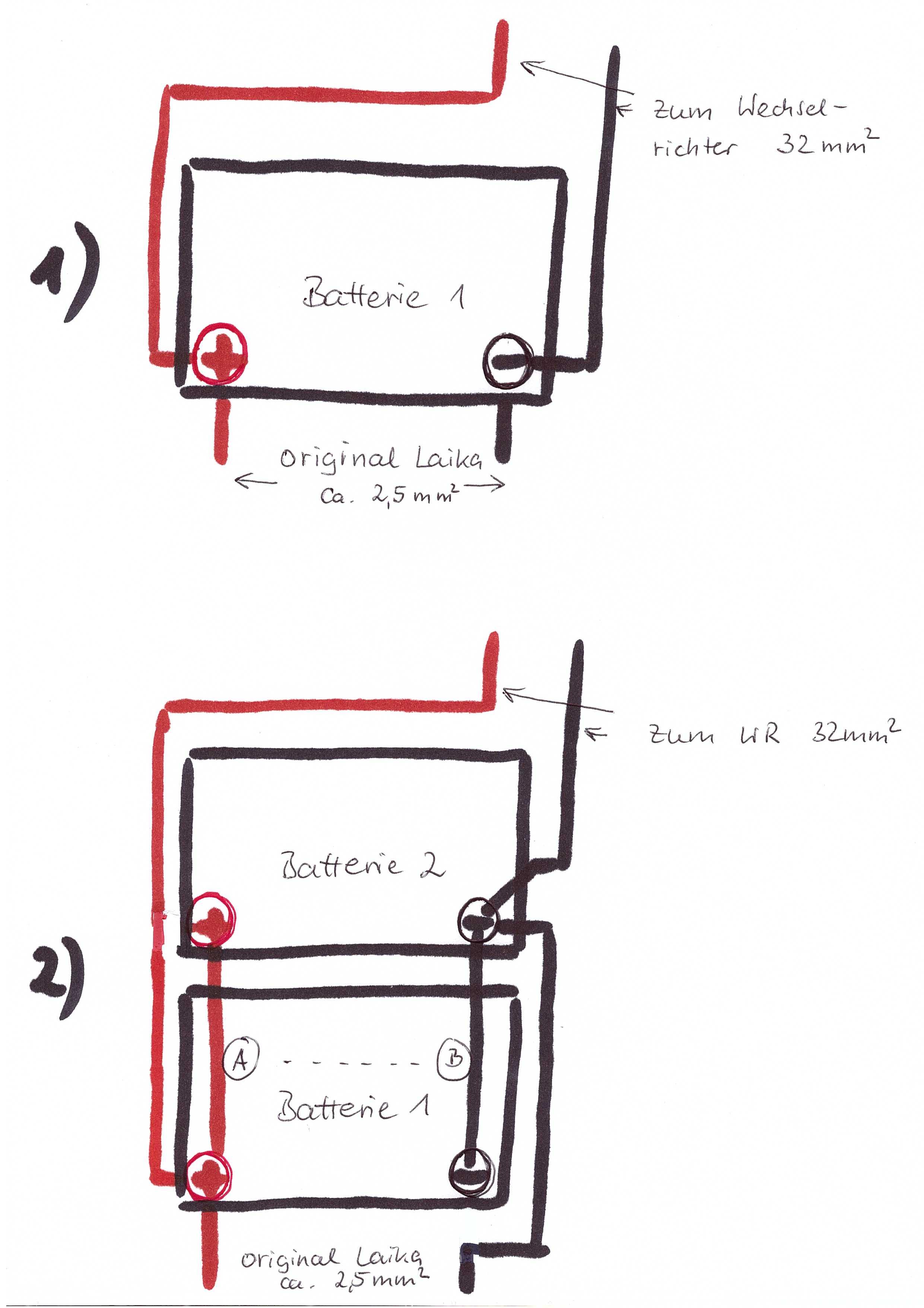250er ] 2. Aufbaubatterie installieren - Basisfahrzeuge ...