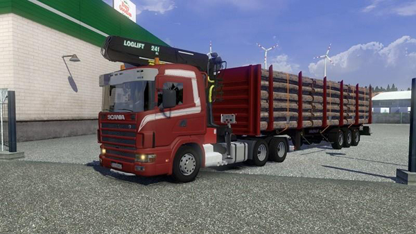 Scania 164L V8 5 various Trailer Wood v1.15