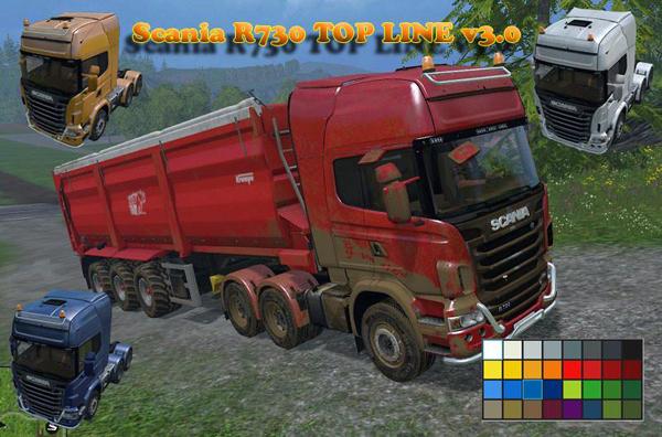 Scania R730 TOP LINE v5.0