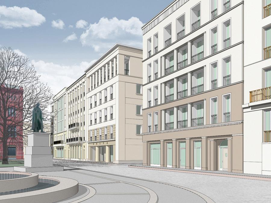 neubebauung am schinkelplatz werderscher markt seite 21 deutsches architektur forum. Black Bedroom Furniture Sets. Home Design Ideas