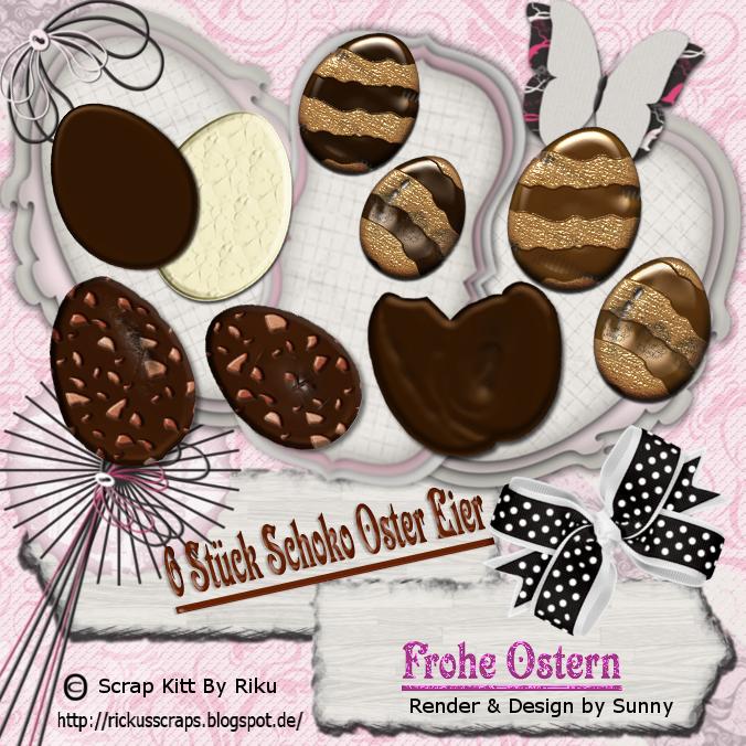 Schoko Oster Eier Set