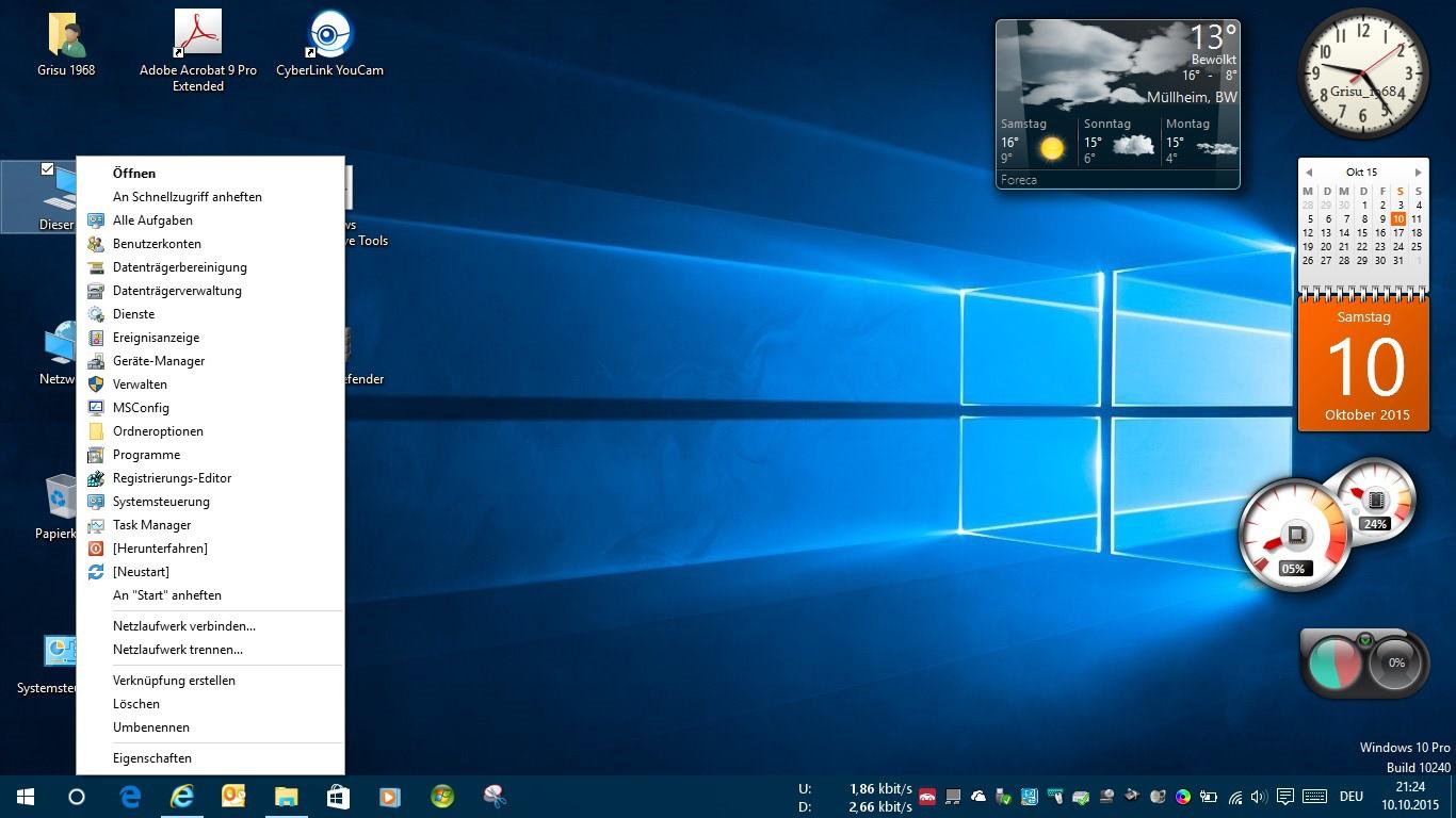 Win10 erweitertes Kontextmenü Icon-Dieser PC