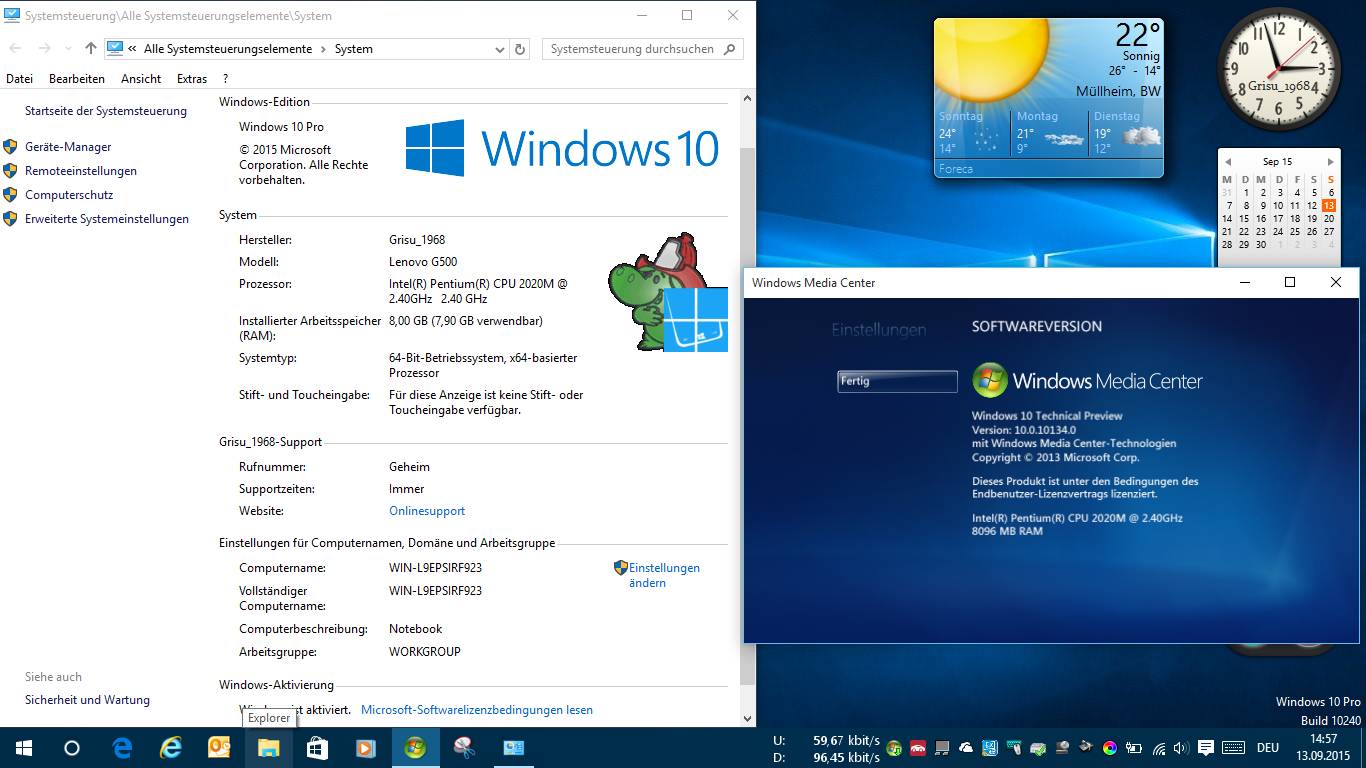 Win10 mit Windows Media Center Grisu_1968