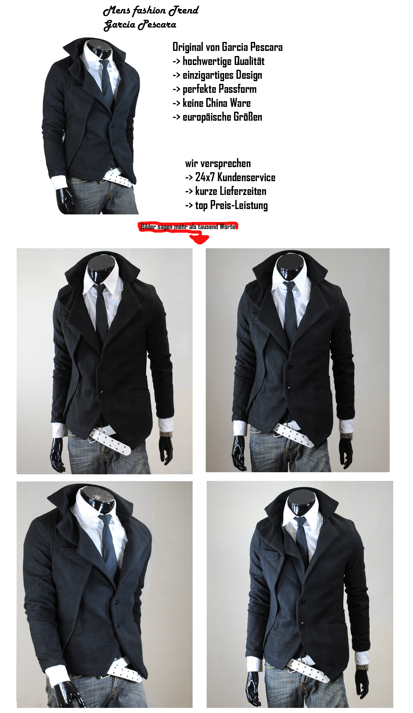gp herren schwarz s m l xl coat trenchcoat jacke parka mantel bergangsjacke ebay. Black Bedroom Furniture Sets. Home Design Ideas