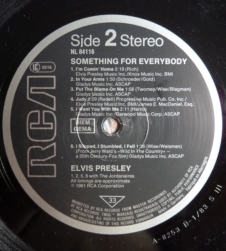 SOMETHING FOR EVERYBODY Sfe83side2cnkgj