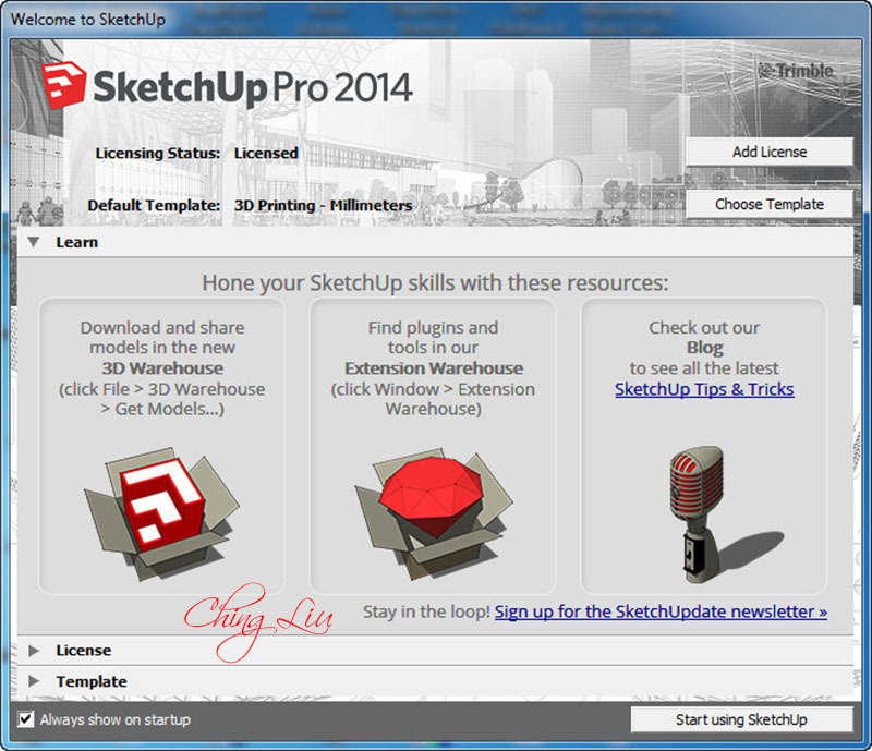 sketchup2014sye0n  SketchUp Pro 2014 14.0.4900 (Cracked files) [ChingLiu]