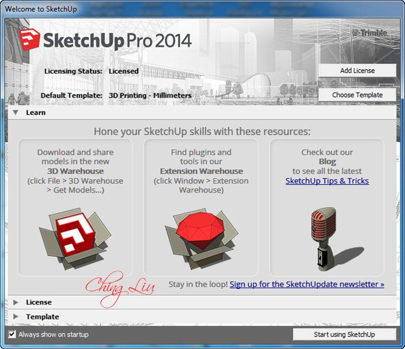 Download  SketchUp Pro 2014 14.0.4900 (Cracked files) [ChingLiu]