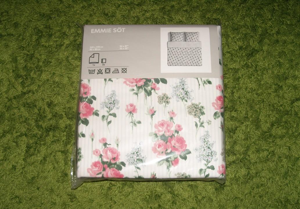 ikea emmie s t romantik rosen rosali wende bettw sche set garnitur 240x220 cm ebay. Black Bedroom Furniture Sets. Home Design Ideas
