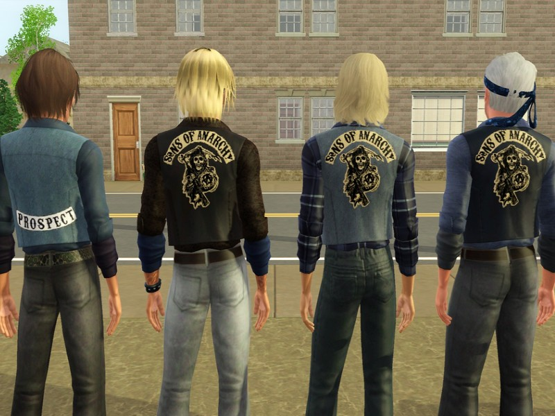 sims 3 kutte sons of anarchy kleidung accessoires. Black Bedroom Furniture Sets. Home Design Ideas