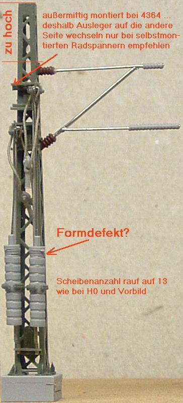 Viessmann 4360 N Mast mit Rohrausleger über zwei Gleise NEU OVP,