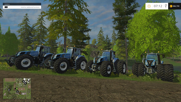 Standard Power Blue New Holland T8's 4 pack Final Version's V1.5 Final
