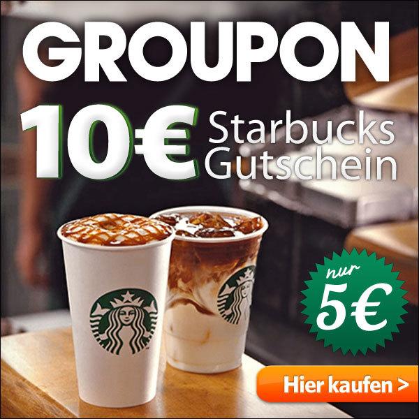 Groupon: 10€ Starbucks Gutschein für nur 5€ über die App