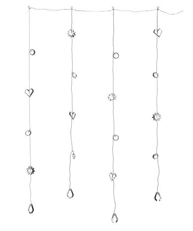ikea led 20er lichtervorhang vorhang in kristall optik strala innenbereich neu ebay. Black Bedroom Furniture Sets. Home Design Ideas