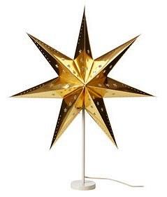 ikea strala tischleuchte lampe leuchte weihnachtsstern stern gold 45cm neu ebay. Black Bedroom Furniture Sets. Home Design Ideas