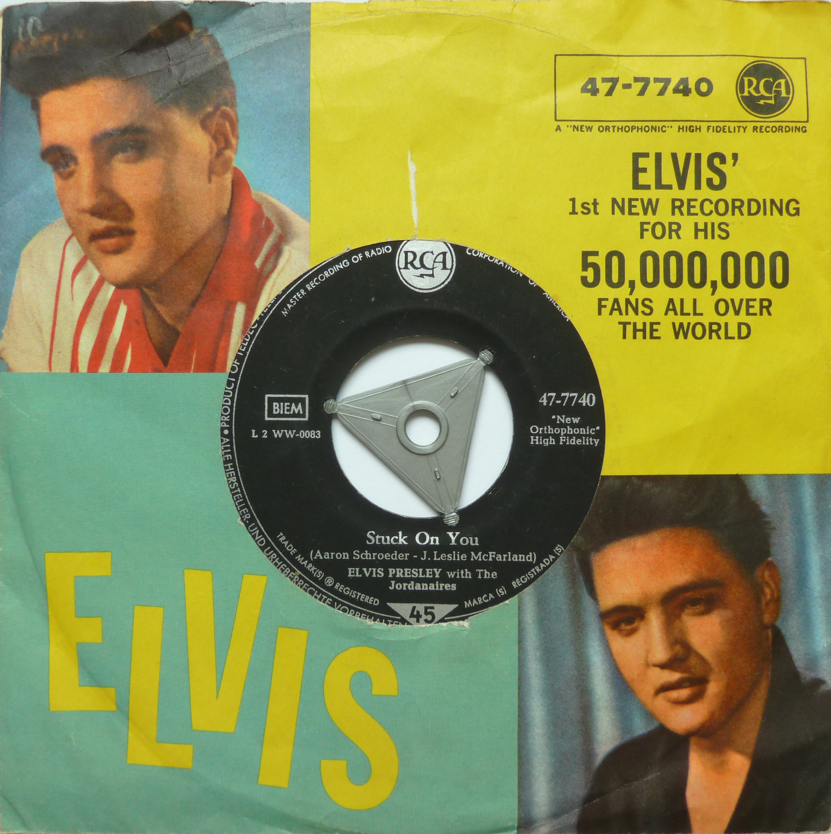 Stuck On You / Fame And Fortune Stuckonyou60s5fronthruqr