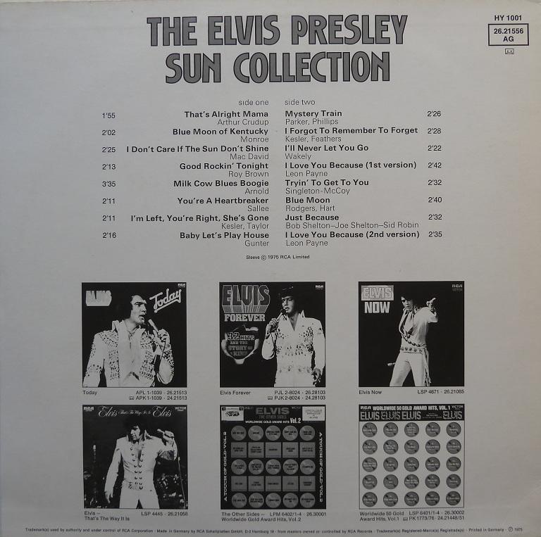 Presley - THE ELVIS PRESLEY SUN COLLECTION Suncoll75drckseitexbuqu