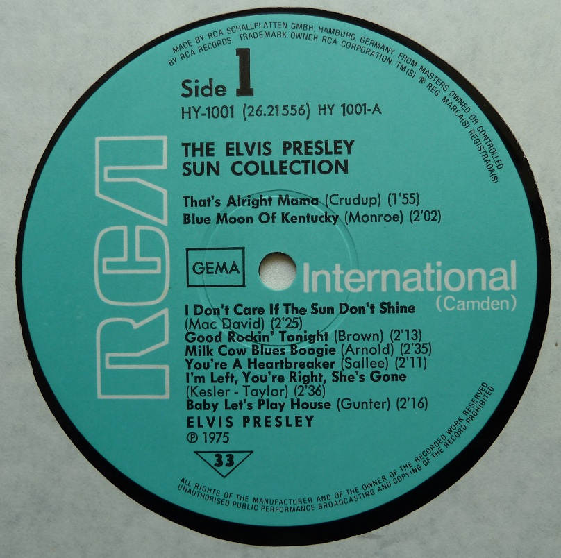 Presley - THE ELVIS PRESLEY SUN COLLECTION Suncoll75dside1c4uzf
