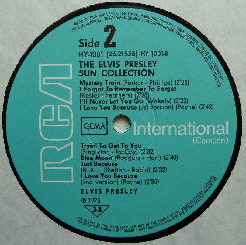 Presley - THE ELVIS PRESLEY SUN COLLECTION Suncoll75dside24muje