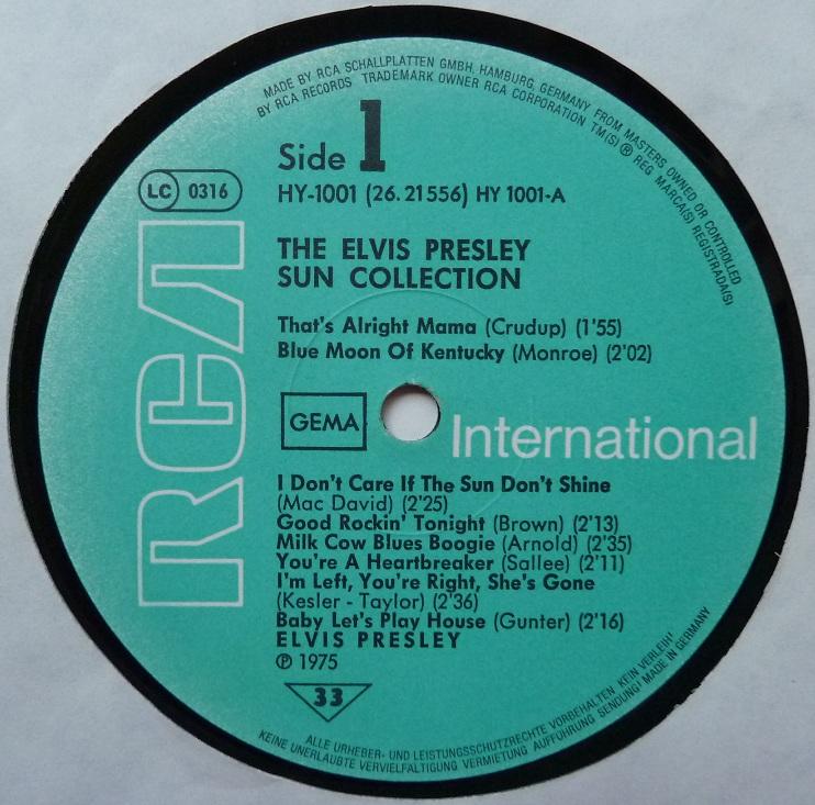 Presley - THE ELVIS PRESLEY SUN COLLECTION Suncoll77dside1tbbjk