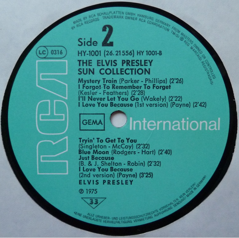 Presley - THE ELVIS PRESLEY SUN COLLECTION Suncoll77dside2zqx8g