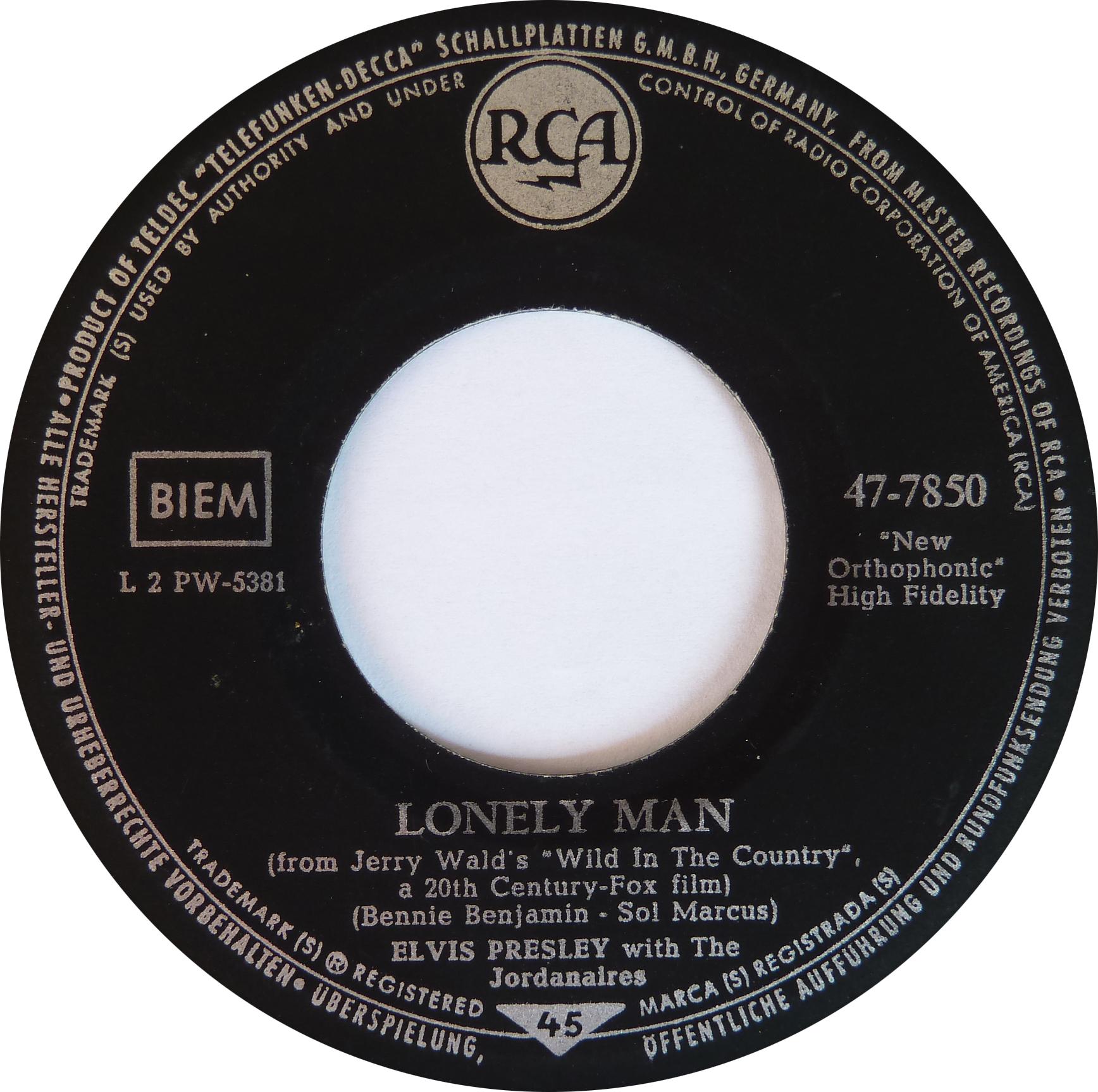 Surrender / Lonely Man Surrender61s7side2aluez