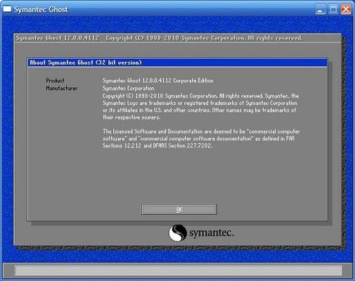 Symantec Ghost BootCD v12.0.0.10520