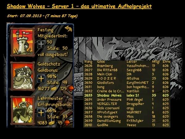 Tagebuch - Server 1 Aufholjagd T-87tageqjjb5
