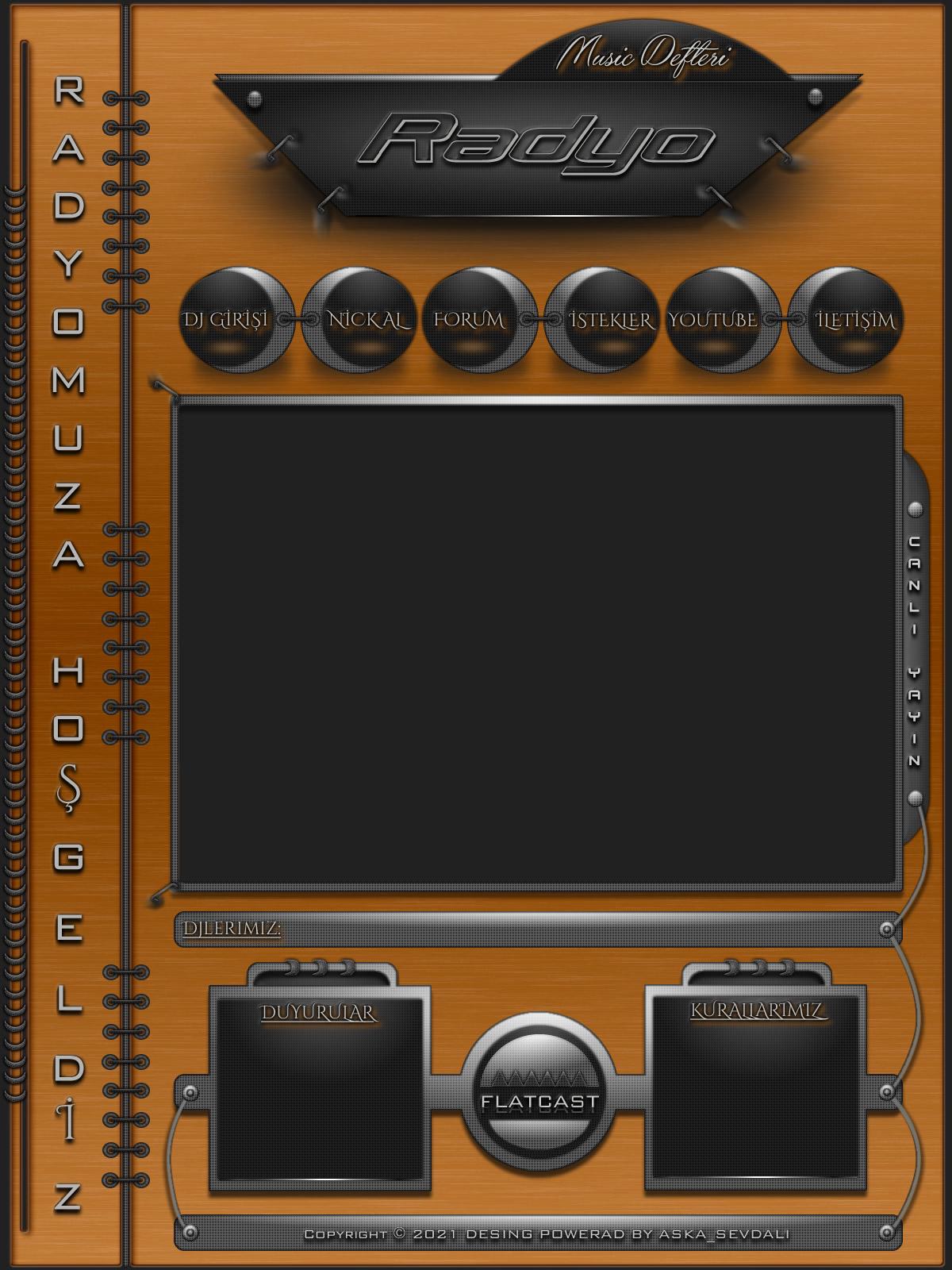 Müzik Defteri Flatcast Radyo index By Aska_SevDaLi